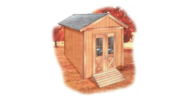 Free 8×12 Gable Roof Shed Plan