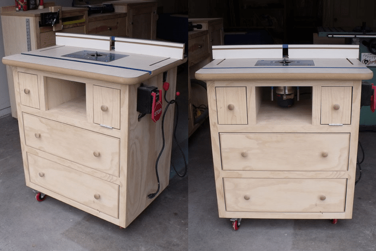 3 free router table plans diy woodworking plans 1 ana whites free router table plan greentooth Image collections