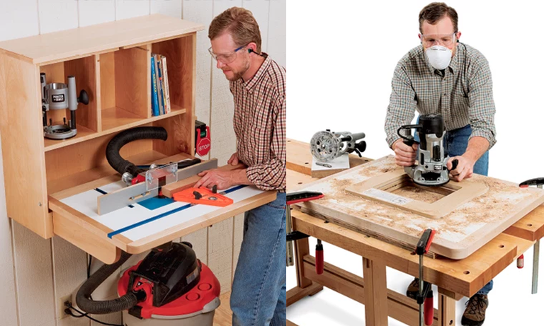 3 free router table plans diy woodworking plans 3 wall mounted router table plan from rockler keyboard keysfo Gallery
