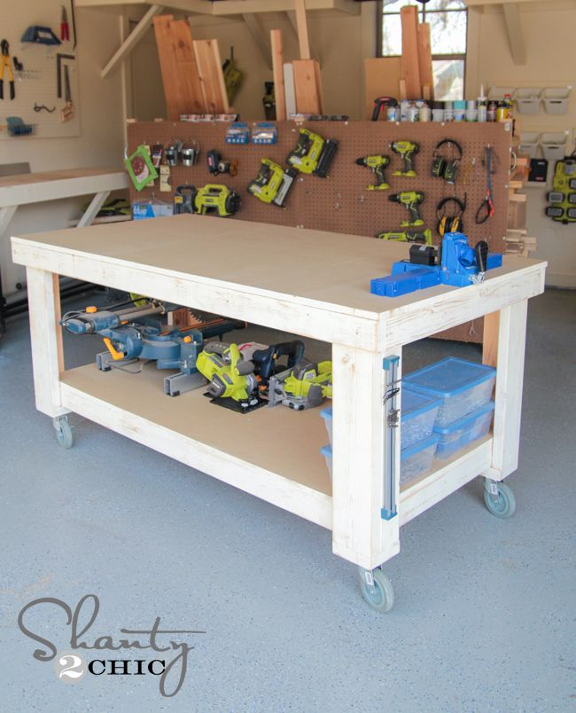 6 Free Workbench Plans DIY Woodworking Plans – Garage Workbench Plans And Patterns