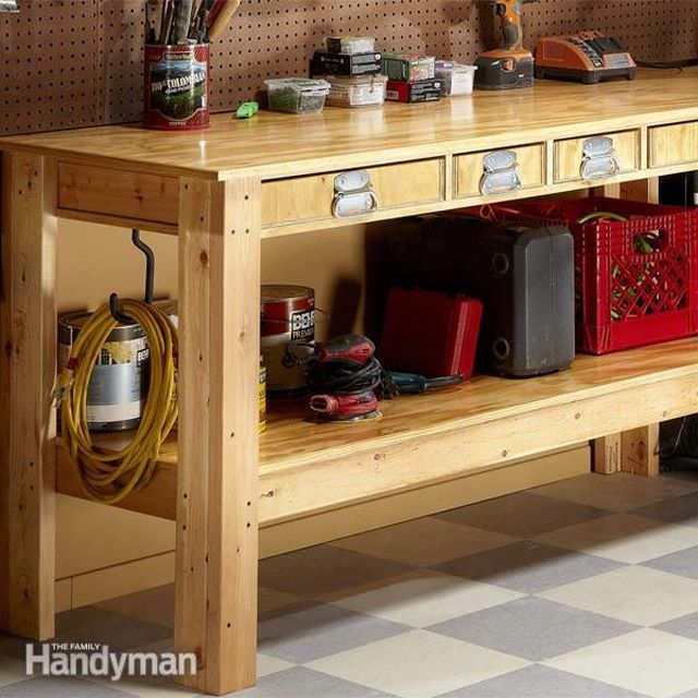 6 Free Workbench Plans DIY Woodworking Plans – Plans For Garage Workbench
