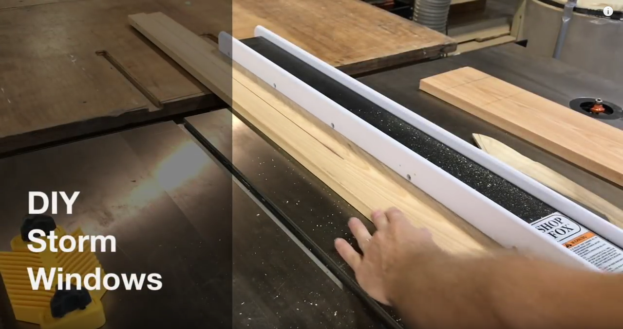 How to make a DIY wooden storm window