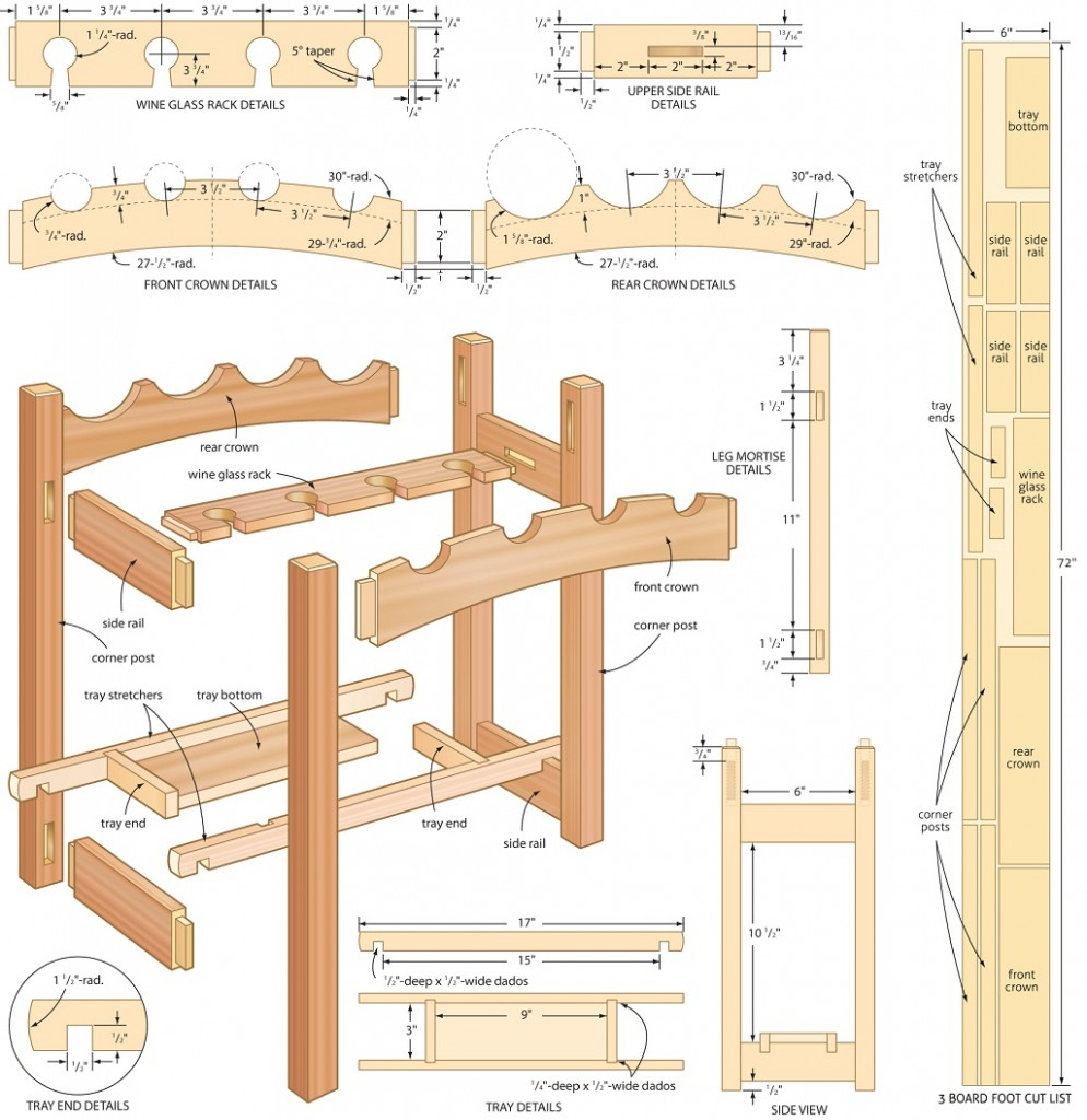 4 Free Plans To Build Your Own Wine Rack