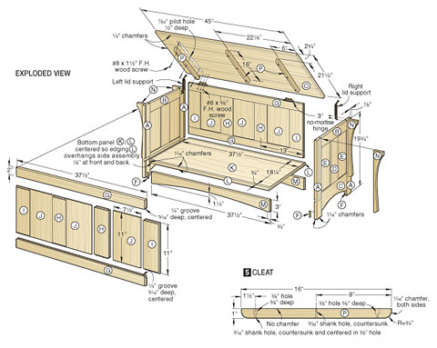 4 Easy Toy Box Wood Working Plans